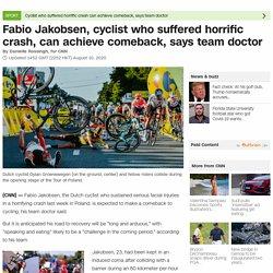 Fabio Jakobsen: Doctor confident cyclist can race again