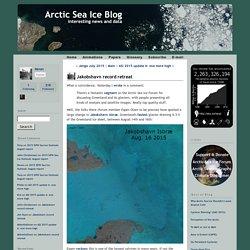 Jakobshavn record retreat - Arctic Sea Ice