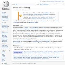 Jakow Trachtenberg - Wikipedia