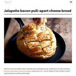 Jalapeño bacon pull-apart cheese bread