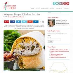 Jalapeno Popper Chicken Burritos
