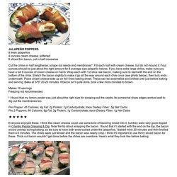 JALAPEÑO POPPERS - Linda's Low Carb Menus & Recipes
