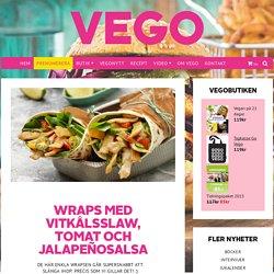 Wraps med vitkålsslaw, tomat och jalapeñosalsa - Vegomagasinet