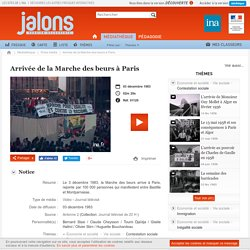 Arrivée de la Marche des beurs à Paris