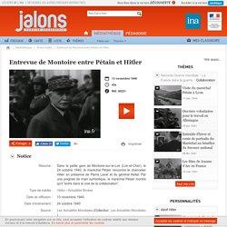 Média contrôlé-Entrevue Pétain-Hitler à Montoire 24 oct 1940