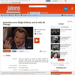 Entretien avec Régis Debray sur le rôle de l'image - Jalons pour l'histoire du temps présent