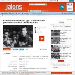 Jalons-Discours Ch De Gaulle-août 1944