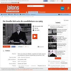 De Gaulle fait acte de candidature en 1965