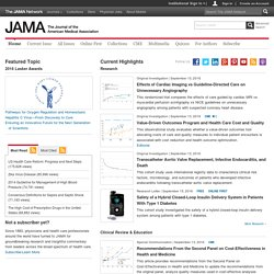 Magazines - JAMA, the Journal of the American Medical Association, a weekly peer-reviewed medical journal published by AMA