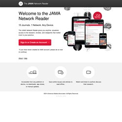 The JAMA Network Reader - Free access to The JAMA Network