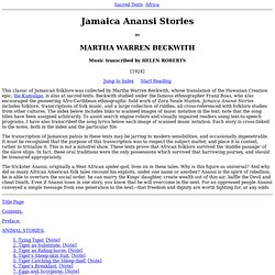 Jamaica Anansi Stories Index
