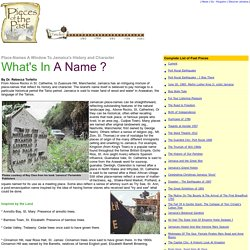 Jamaica Gleaner : Pieces of the Past: What's In A Name?