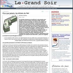 Plus que jamais, les diktats du FMI par Jérôme DUVAL