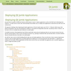 Qt Jambi — Deploying Qt Jambi Applications