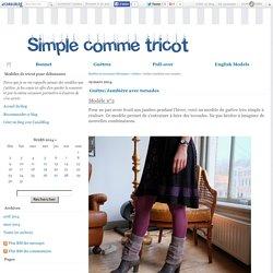 Guêtre/Jambière avec torsades - Modèles de tricot pour débutantes