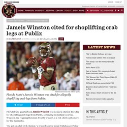Jameis Winston cited for shoplifting crab legs at Publix