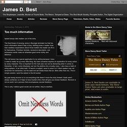 James D. Best: Too much information