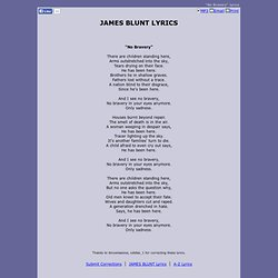 JAMES BLUNT LYRICS - No Bravery