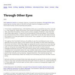 James Bridle / Through Other Eyes