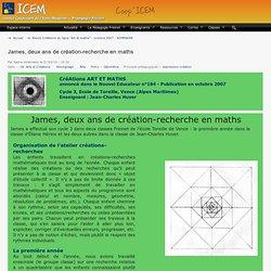 James, deux ans de création-recherche en maths