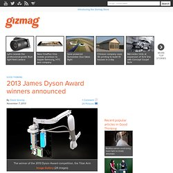 2013 James Dyson Award winners announced