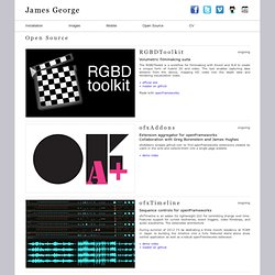 James George | open source
