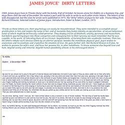 James Joyce' dirty letters