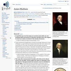James Madison, wikiquotes
