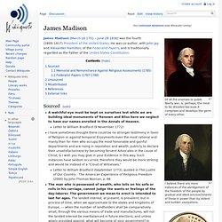 James Madison, wikiquotes
