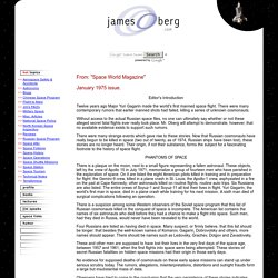 James Oberg's Pioneering Space