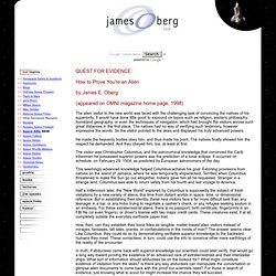 James Oberg's Pioneering Space