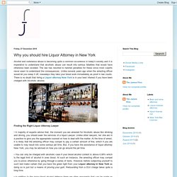 The James Firm: Why you should hire Liquor Attorney in New York