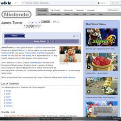 James Turner - The Nintendo Wiki - Wii, Nintendo DS, and all things Nintendo - Wikia