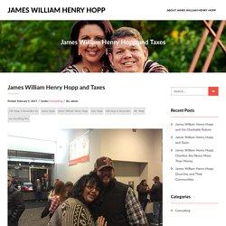 James William Henry Hopp and Taxes