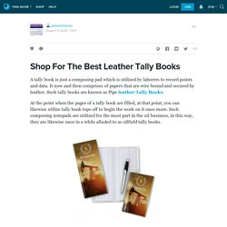 Shop For The Best Leather Tally Books: jamesclooney — LiveJournal