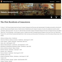 The First Residents of Jamestown - Historic Jamestowne Part of Colonial National Historical Park