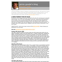 Jamie's wine blog