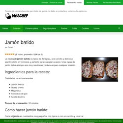 Jamón batido - www.MasChef.com
