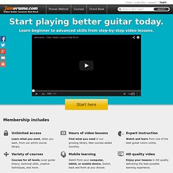 Welcome to Jamorama™ - Learn How To Play Guitar With Jamorama Guitar Lessons™