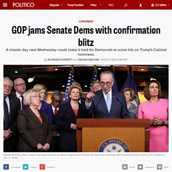 GOP jams Senate confirmation blitz