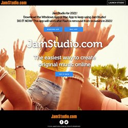 JamStudio.com - Create Music Beats - The online music factory - Jam, remix, chords, loops