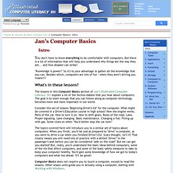 Jan's Illustrated Computer Literacy 101: Computer Basics