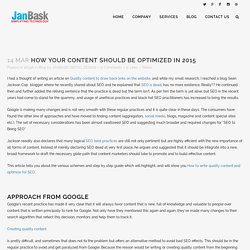 How Your Content Should Be Optimized in 2015