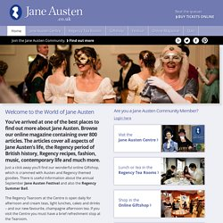 Visit the Jane Austen Centre in Bath England
