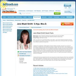 Jane Maati Smith C.Hyp. Msc.D.