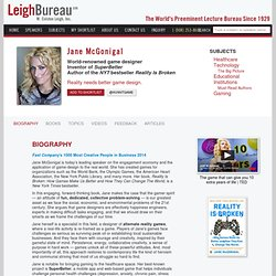 Jane McGonigal - Leigh Bureau