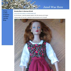 Brenda Starr/Tyler Doll - German Dirndl Dress