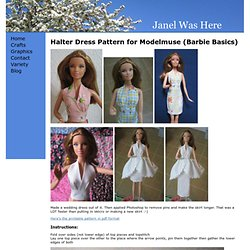 Halter Dress Pattern For Modelmuse (Barbie Basics)