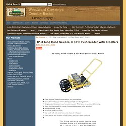 JP-3, Jang Hand Seeder, 3 Row Push Seeder with Precision Seeding