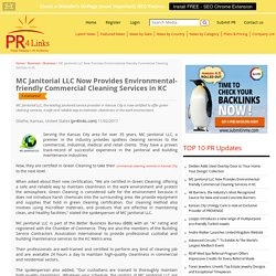 MC Janitorial LLC Now Provides Environmental-friendly Commercial Cleaning Services in KC